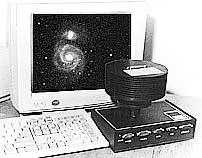 Наша ПЗС-матрица SBIG ST6 возле компьютера