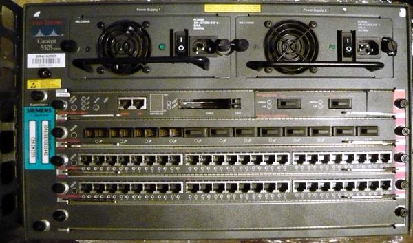 1 X WS X5530 E3A Supervisor Engine 2 C5008B Power Supply 376W Cisco P N 32 0849 01 Astec Model AA 19440 U5533 FEFX MMF 100Base FX Fast
